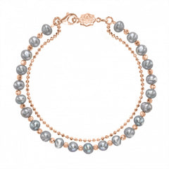 18ct Rose Gold Vermeil & Dove Grey Pearl Orissa Bracelet