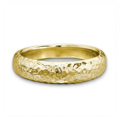 18ct Gold Vermeil Tapering Hammered Band