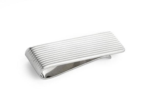 Money Clip - Silver Engine Turned