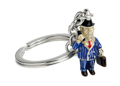 Silver Businessman Key Ring