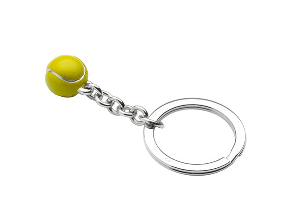Silver Tennis Ball Key Ring