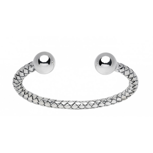 Sterling Silver Plaited Cuff