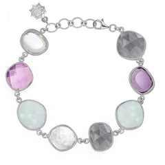 Sterling Silver Mixed Gemstone Jewel Bracelet