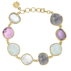 18ct Gold Vermeil Mixed Gemstone Jewel Bracelet