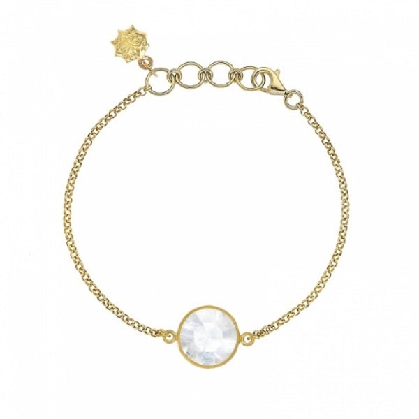 18ct Gold Vermeil Moonstone Bracelet