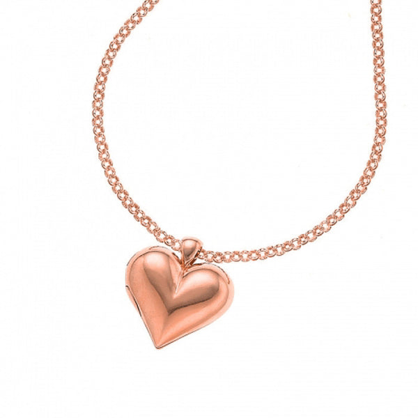 18ct Rose Gold Vermeil Heart-Shaped Locket