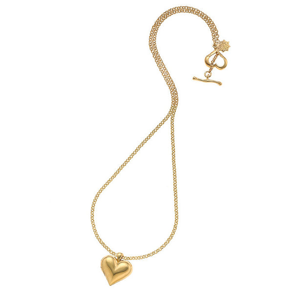 18ct Gold Vermeil Heart-Shaped Locket