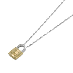 "18ct White & Yellow Gold ""Love Lock"" Pendant"