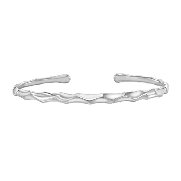 Sterling Silver Luna Torque Bangle
