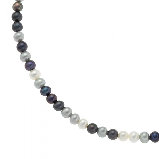 Sterling Silver Medium Mixed Freshwater Pearl Necklace