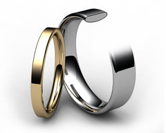 Modern Flat Court Wedding Band