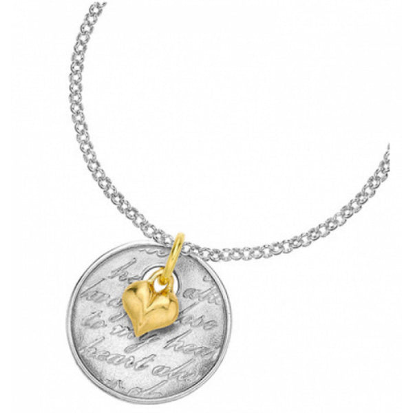 Memento Sterling Silver & 18ct Gold Vermeil 'Always Close To My Heart' Pendant