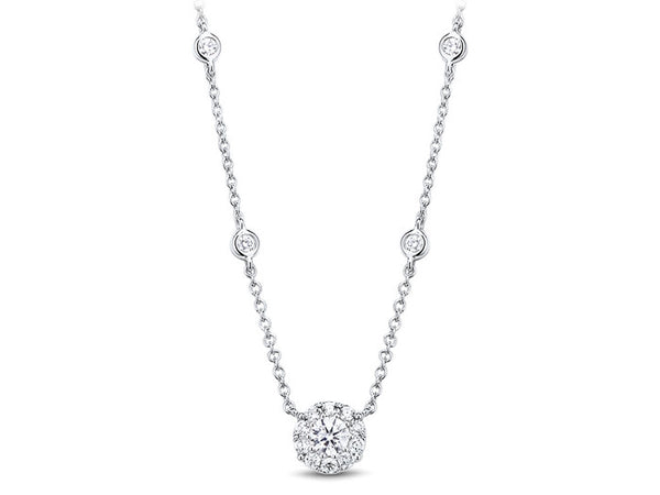 18ct White Gold Diamond Necklace, 0.51ct