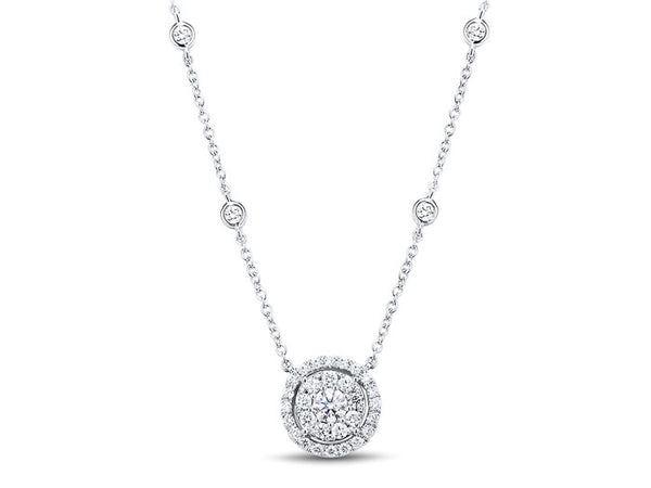 18ct White Gold Diamond Necklace, 0.68ct