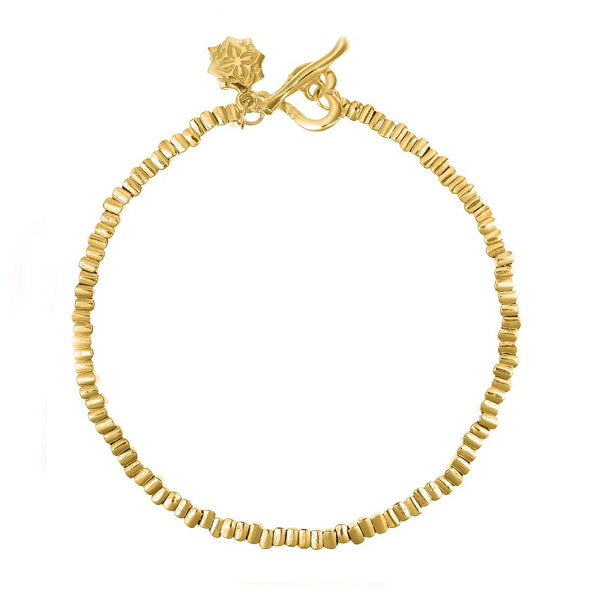 18ct Yellow Gold Vermeil Kubes Nomad Bracelet