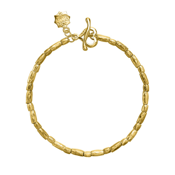 18ct Gold Vermeil Rice Nomad Bracelet