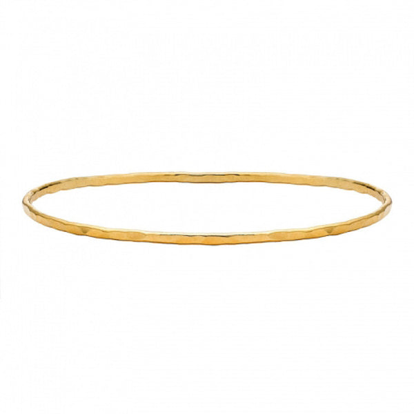 18ct Gold Vermeil 2mm Hammered Nomad Bangle
