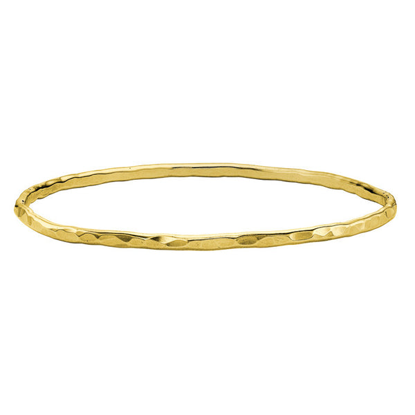18ct Gold Vermeil 3mm Hammered Nomad Bangle