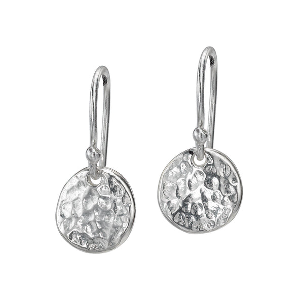 Sterling Silver 10mm Disc Nomad Earrings