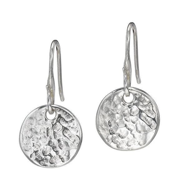 Sterling Silver 13mm Disc Nomad Earrings