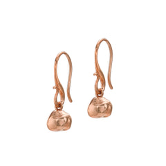 18ct Rose Gold Vermeil Nugget Drop Earrings