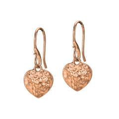 18ct Rose Gold Vermeil Nomad Heart Drop Earrings