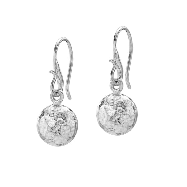 Sterling Silver Nomad Drop Ball Earrings