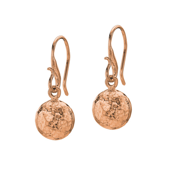 18ct Rose Gold Vermeil Nomad Drop Ball Earrings