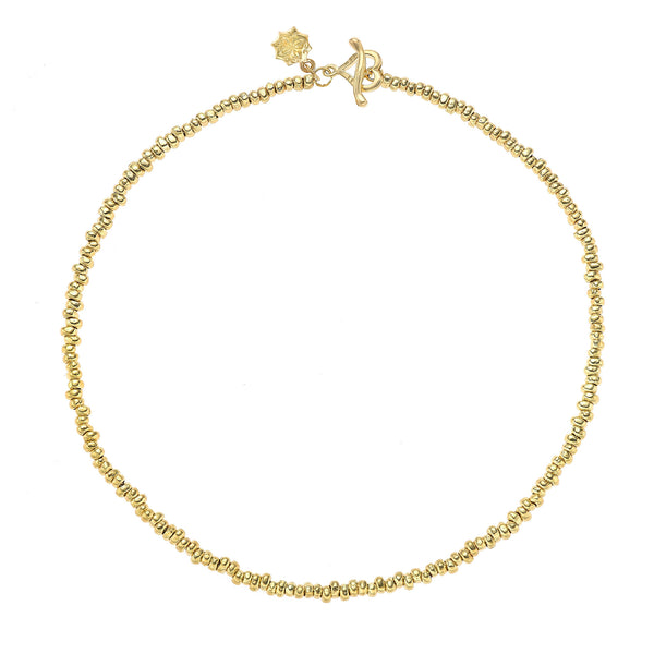 "18ct Gold Vermeil Small Nugget Nomad Necklace (16"")"