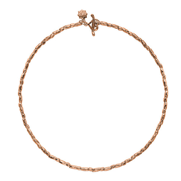 "18ct Rose Gold Vermeil Rice Nomad Necklace (18"")"