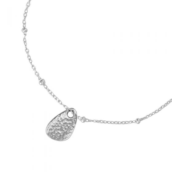 Sterling Silver Adjustable Chain & Nomad Pebble Pendant