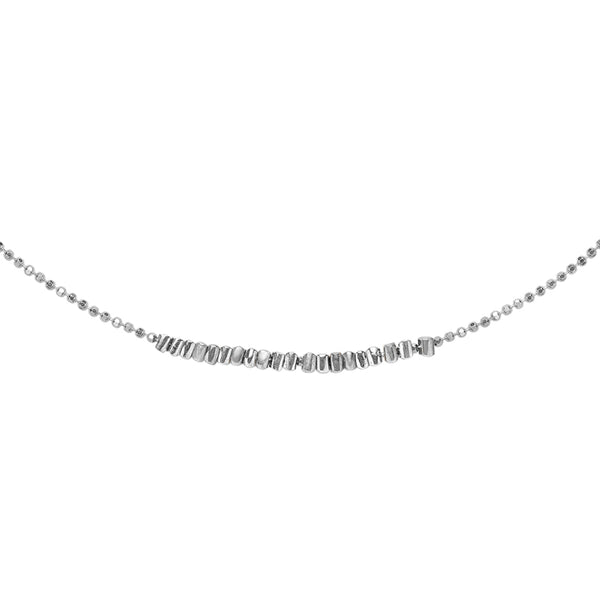 Sterling Silver Kubes Row Necklace
