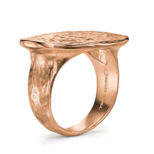18ct Rose Gold Vermeil 18mm Oval Top Nomad Ring