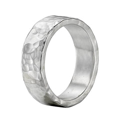 Sterling Silver 6mm Hammered Nomad Band