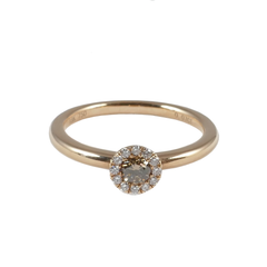 18ct Rose Gold Chocolate Coloured Diamond Ring, 0.23ct
