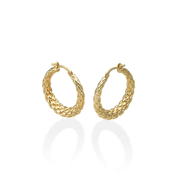 18ct Yellow Gold Lovely Daisy Hoop Earrings