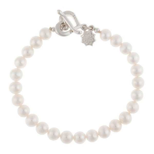 Sterling Silver Small White Freshwater Pearl Bracelet