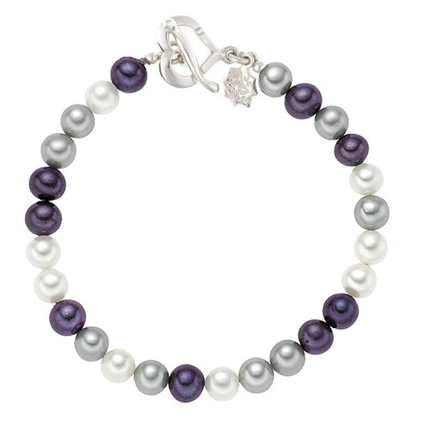 Sterling Silver Large Mixed Freshwater Pearl Bracelet