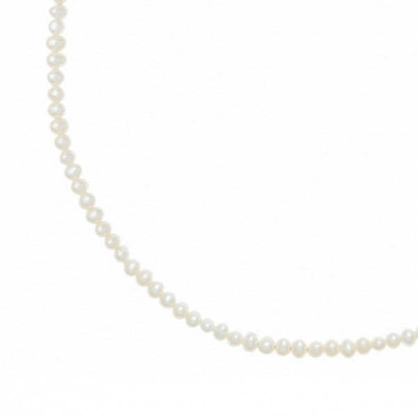 Sterling Silver Small White Freshwater Pearl Necklace