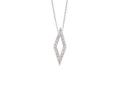 9ct White Gold Diamond Geo Pendant, 0.18ct