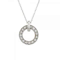 9ct White Gold Meridian Diamond Pendant, 0.13ct