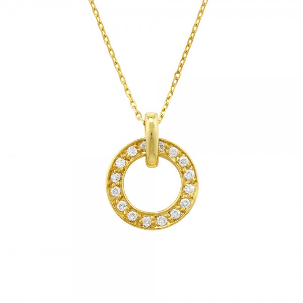 9ct Yellow Gold Meridian Diamond Pendant, 0.13ct