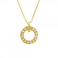 9ct Yellow Gold Meridian Diamond Pendant, 0.07ct