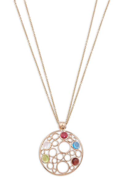 9ct Rose Gold Bubble Multi Gem Pendant