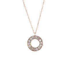 9ct Rose Gold Diamond Meridian Pendant, 0.07ct