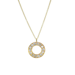 9ct Yellow Gold Diamond Meridian Pendant, 0.07ct