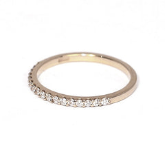 18ct Yellow Gold Diamond Half Eternity Ring, 0.20ct