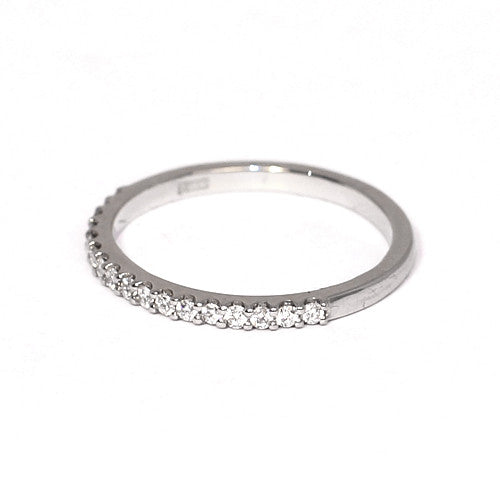 Platinum Set Diamond Half Eternity Ring, 0.20ct