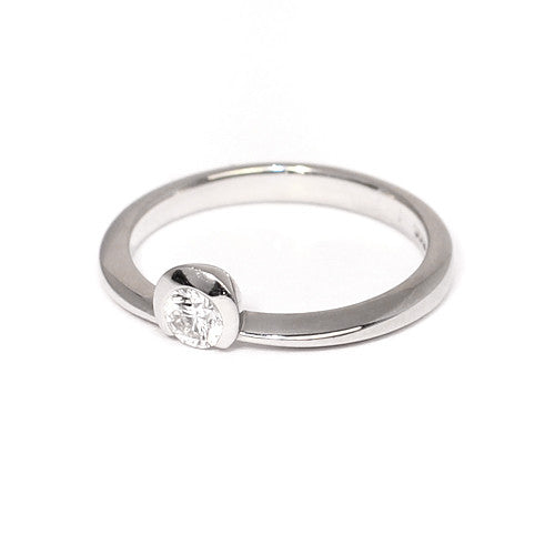 Platinum Set Diamond Ring, 0.22ct