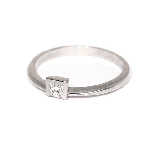 Platinum Set Diamond Ring, 0.17ct
